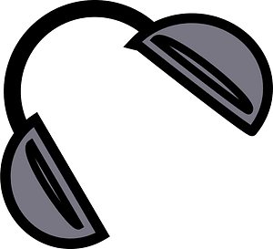 Head phones clipart
