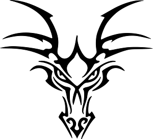 Dragons head clipart