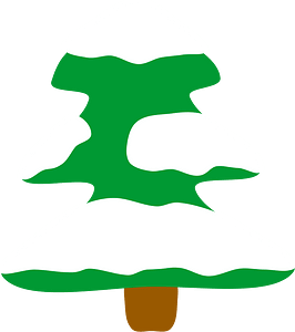 Snowy christmas tree clipart