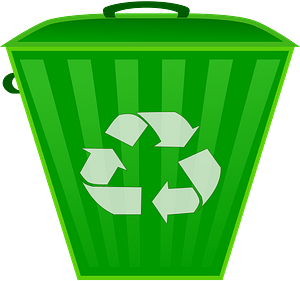 Green Recycle Bin with Lid Closed clipart