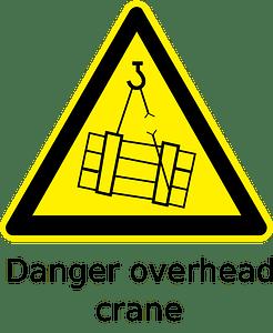 Danger overhead crane clipart
