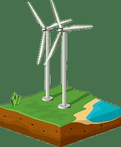 The windmills clipart