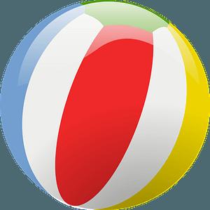 Colorful Beach Ball clipart