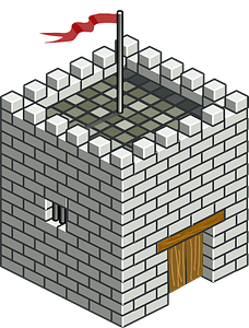Isometric Castle Tower clipart