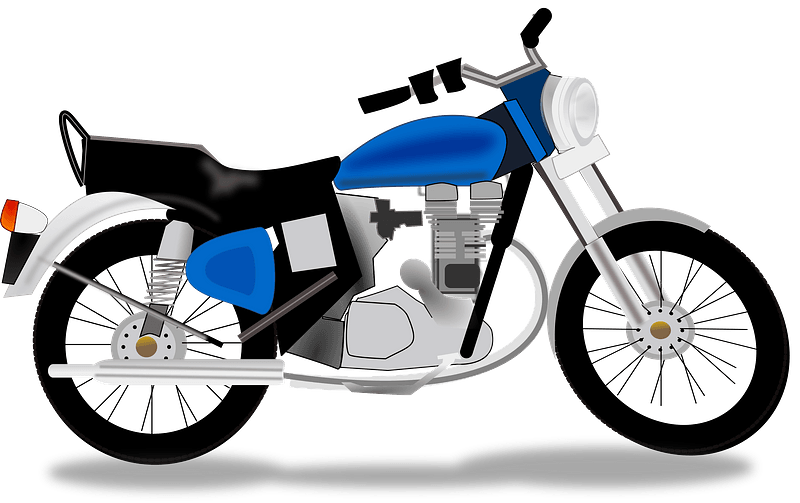 Royal Motorcycle clipart