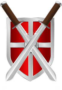 Swords and Shield clipart