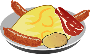 Breakfast Meal on a Plate clipart