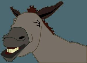 Donkey head clipart