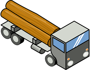 Log Truck clipart
