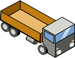 Simple Dump Truck clipart