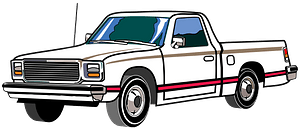 Late Seventies Truck clipart