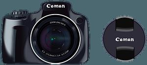 Camera and Lens Cap clipart
