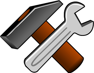 Hammer and Wrench clipart