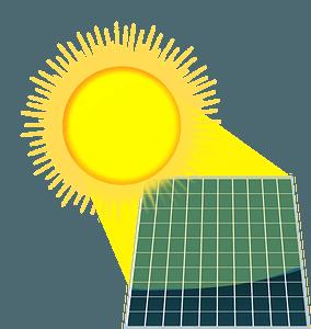 Solar Energy Panels under the Sun clipart