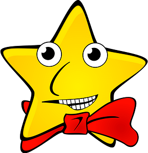 Star Wearing a Red Bowtie clipart