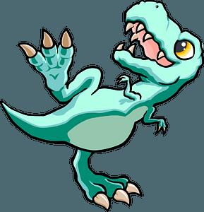 Tyrannosaurus dancing clipart