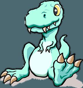 Tyrannosaurus sitting clipart
