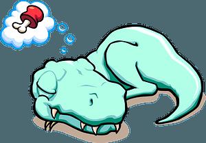 Tyrannosaurus dreaming clipart