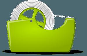 Green Tape Dispenser clipart