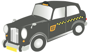 Old Fashioned Taxi clipart