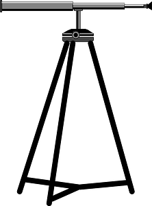 Telescope on a tripod clipart