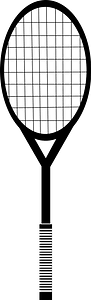 Black-and-white Tennis Racket clipart