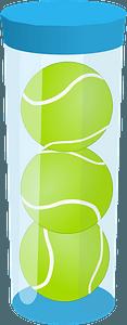Tennis ball cannister clipart