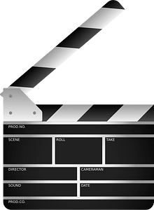 Clapperboard clipart