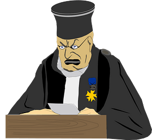 Angry Judge clipart