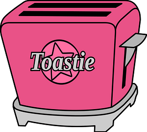Pink Pop Up Toaster clipart