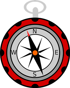 Red Compass clipart