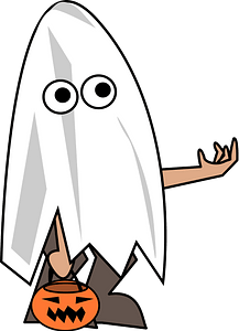 Ghost Trick or Treater clipart