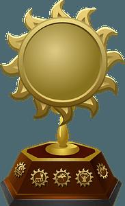 Sun Trophy clipart