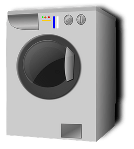 Front Load Washing Machine clipart