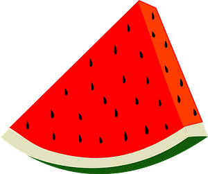 Watermelon Slice clipart