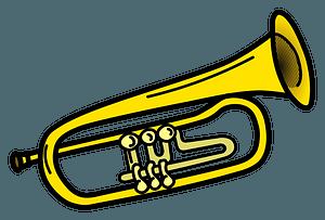 Brass trumpet 剪贴画