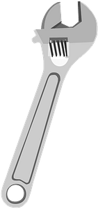 Adjustable pipe wrench clipart