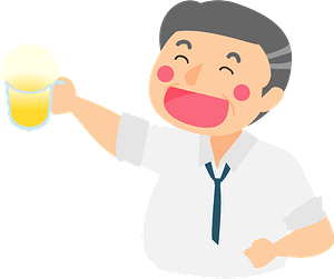 Businessman is Drinking Beer clipart
