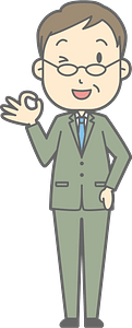 (Brad) Businessman is Giving Ok Sign clipart