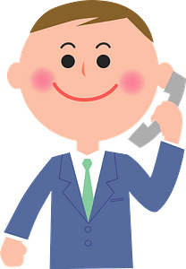 (Larry) Businessman is Talking on the Telephone clipart