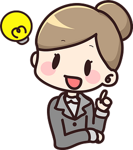 Businesswoman has an Idea clipart