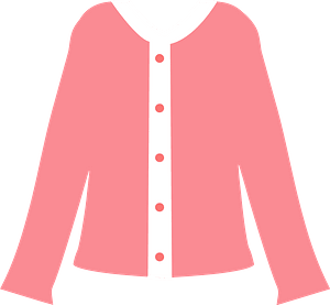 Pink Cardigan Sweater clipart