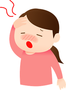 Woman is Sick with a Cold clipart