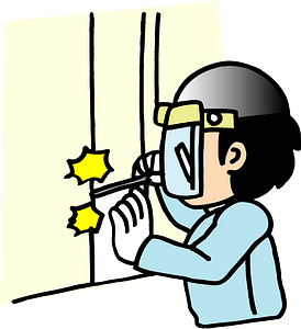 (Caleb) Construction Worker Welder clipart