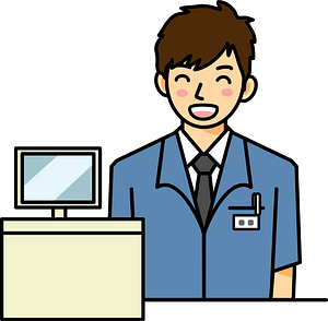 Convenience Store Clerk clipart