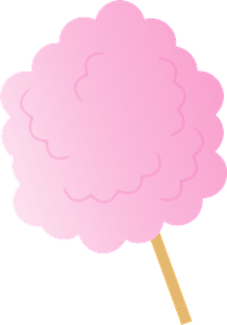 Pink Cotton Candy on s Stick clipart