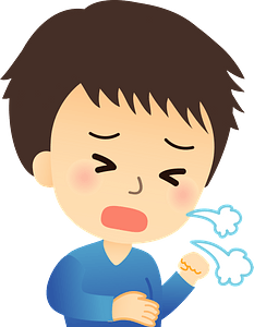 Boy is Sick with Cough and Cold clipart