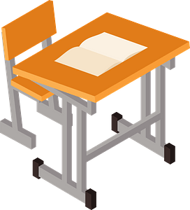 Desk and Chair clipart