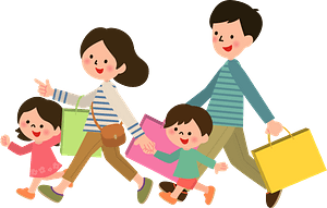 Family is Shopping clipart