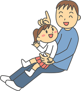 Father and Daughter are Playing clipart